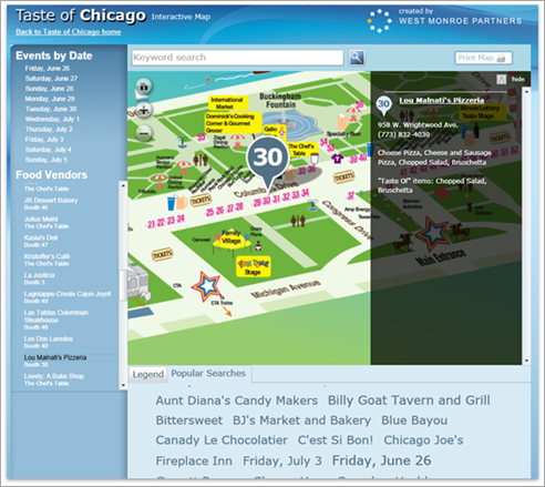 Taste of Chicago interactive map