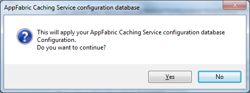 Configuration Database confirmation