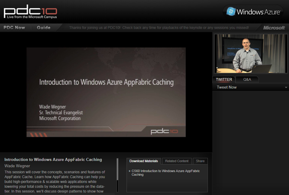 Introduction to Windows Azure AppFabric Caching