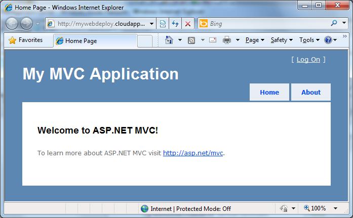 Pre-Web Deploy
