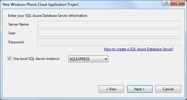 Using SQL Azure Locally