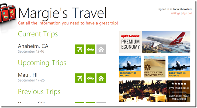 Rich Data in Margie's Travel