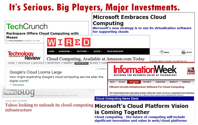 Big players investing in the cloud