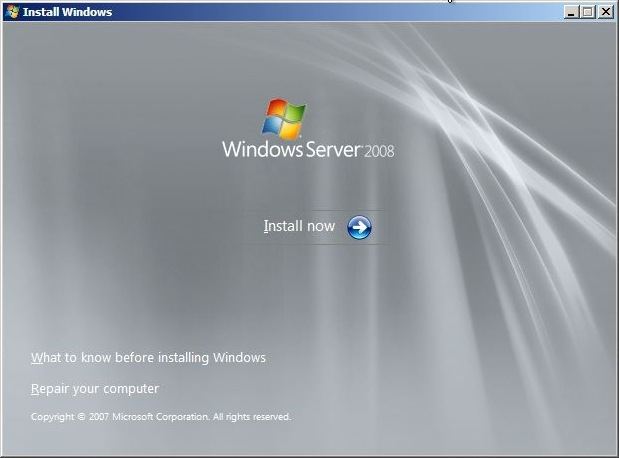 Windows Server 2008 Installation (1)
