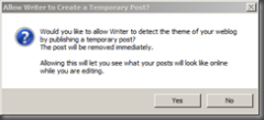 Allow Writer to Create a Temporary Post?